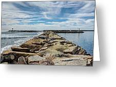 Oceanside Jetty Greeting Card