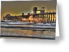 Oceanside Pier Hdr  Greeting Card