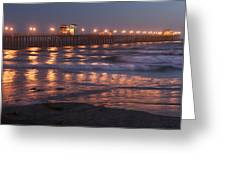 Oceanside Pier In The Mist Greeting Card
