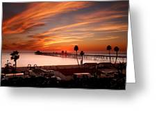 Oceanside Sunset 10 Greeting Card by Larry Marshall