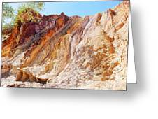 Ochre Pits Colours, West Mcdonald Ranges Greeting Card