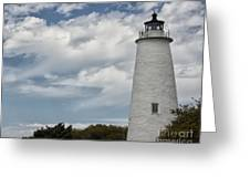 Ocracoke Island Lighthouse Greeting Card