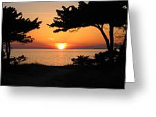 Ocracoke Island Winter Sunset Greeting Card