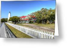 Ocracoke Lighthouse, Ocracoke Island, Nc Greeting Card