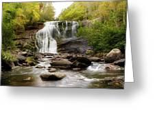 October At Bald River Falls Greeting Card