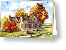 October At The Farm Greeting Card