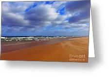 October Beach Greeting Card