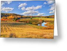 October Countryside 3 Greeting Card