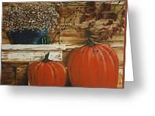 October Decor Greeting Card
