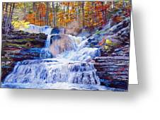 October Falls Greeting Card