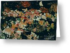October Flowers By Night Greeting Card