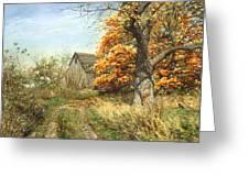October Glory Greeting Card