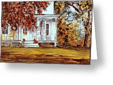 October House  Greeting Card