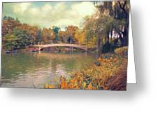 October In Central Park Greeting Card