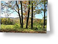 October In Vermont Greeting Card