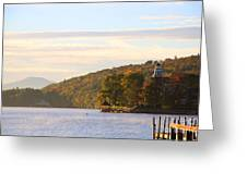October Landing Greeting Card by Michael Mooney