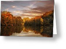 October Lights Greeting Card