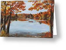 October Morn At Walden Pond Greeting Card by Jack Skinner