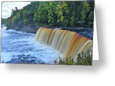 October Morning At Upper Tahquamenon Falls Greeting Card