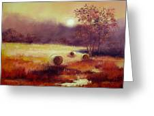 October Pasture Greeting Card