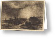 October Rain: Posuclos In The Guardarramas, Near Madrid Greeting Card