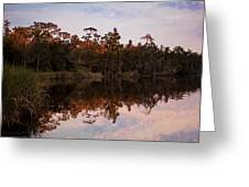 October Reflections On The River Greeting Card
