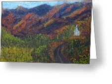 October Road To Home Greeting Card