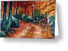 October Woodland Greeting Card