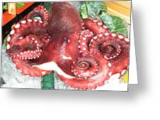 Octupus For Lunch Greeting Card