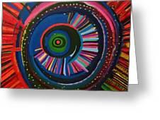 Ocular Energy Path Greeting Card by Daina White