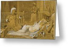 Odalisque With Slave Greeting Card