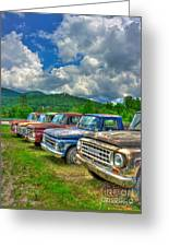 Odd Man Out Fords And Friend  Greeting Card