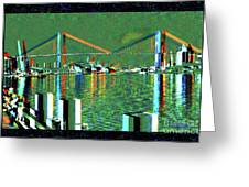 Of Time And The Savannah River Bridge Greeting Card