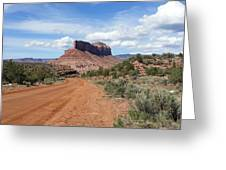 Off Road On The Red Rock Greeting Card