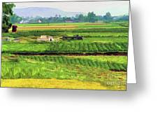 Off The Beaten Track Vietnam Viewed Through Train Window Filters  Greeting Card