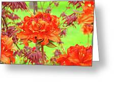 Office Art Prints Orange Azalea Flowers Landscape 13 Giclee Prints Baslee Troutman Greeting Card