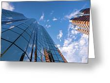 Office Buildings And Sky Greeting Card