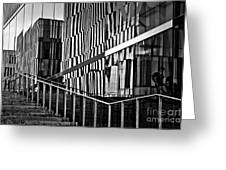 Office Buildings Reflections Greeting Card