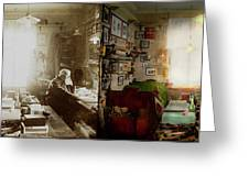 Office - Ole Tobias Olsen 1900 - Side By Side Greeting Card