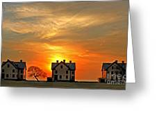 Officer's Row At Sunset Greeting Card