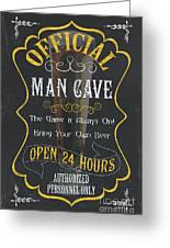 Official Man Cave Greeting Card