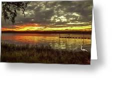 Ogi Sunset Greeting Card
