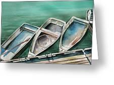 Ogunquit Maine Skiffs Greeting Card