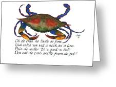 Oh De Crab Greeting Card