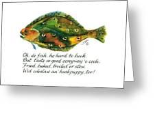 Oh De Fish Greeting Card