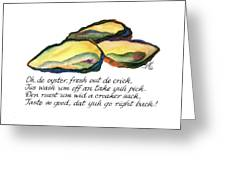 Oh De Oyster Greeting Card