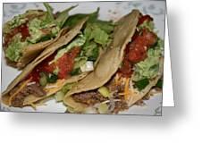 Oh So Good Tacos Greeting Card