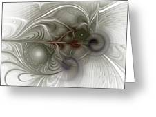 Oh That I Had Wings - Fractal Art Greeting Card