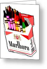 Oh These Arnt Cigarettes Just Crayons Greeting Card