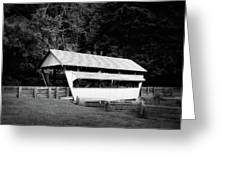 Ohio Covered Bridge In Black And White Greeting Card